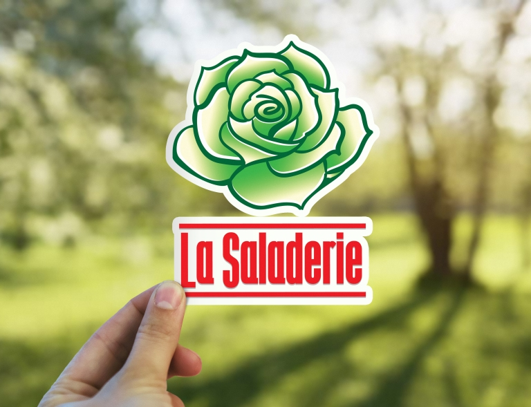 La saladerie logo mock up